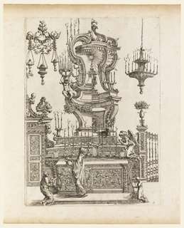 """Print, Design for an Altar, plate 2 of """"Nuove Inventioni d'Ornament..."""""""