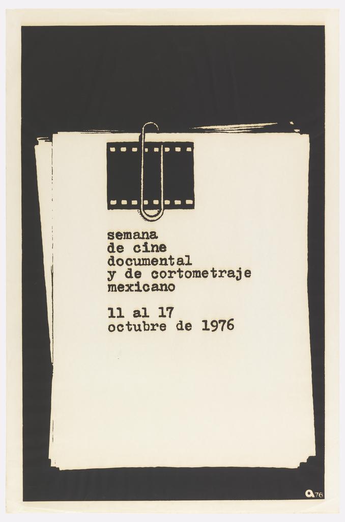Poster, Semana de cine documental y de cortometraje mexicano (Week of Mexican Documentary Cinema and Short Film)