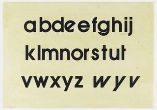 Drawing, Design for Avant Garde Typeface: Lower Case