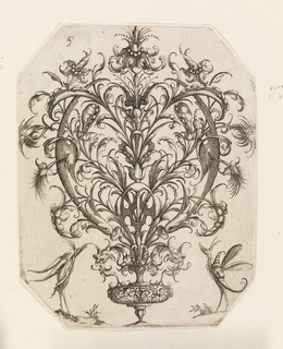Print, Plate 5, from Die Folge der phantastischen Schmucksträβe (Suite of Fantastic Ornamental Bouquets)