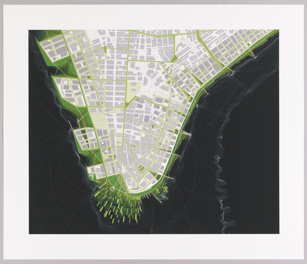 Print, New Urban Ground, Proposal for Rising Currents Exhibition, Museum of Modern Art, New York, NY