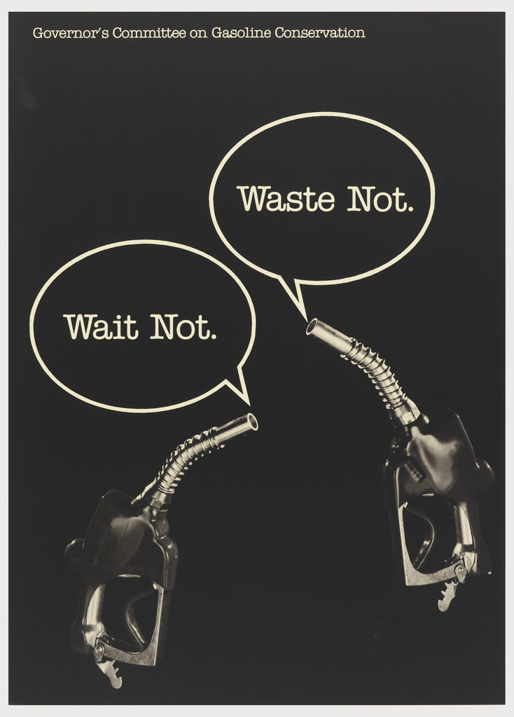 Poster, Waste not. Wait not.