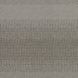 Length of woven fabric with a fine mesh of diagonally crossed lines, in dark gray on a gray ground. Offered in six colorways.