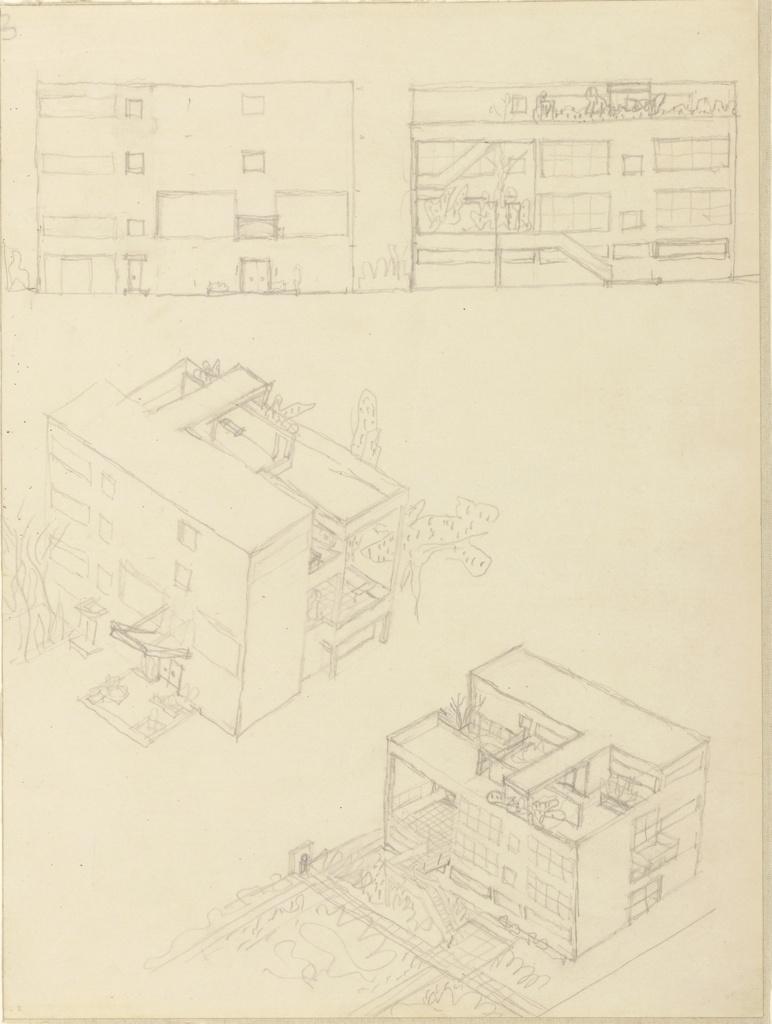 Drawing, First Studies, Villa Stein-de Monzie, Garches, France