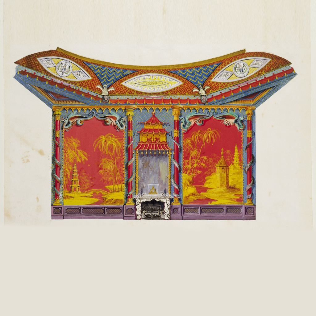 Drawing, Design for the West Wall of the Music Room, for Brighton Pavilion, Brighton, England