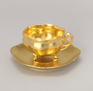 Healey Gold Cup And Saucer, ca. 1893