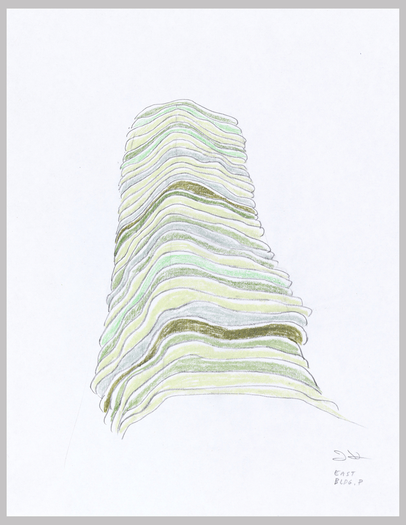 Drawing, Aqua Tower, Chicago, Illinois, USA: Study Exploring Chromatic Strata, ca. 2005