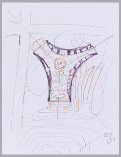 Sketch of trefoil Arcus Center for Social Justice Leadership Building oriented to site