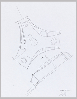 Sketch of Arcus Center for Social Justice Leadership Building showing closed program development in arcs