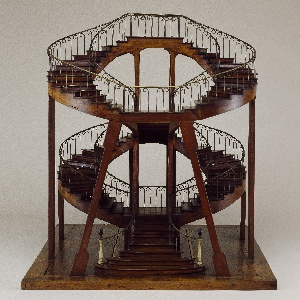 High Quality Double Revolution Super Imposed Staircase Model.