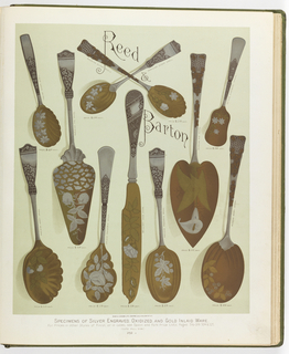 Book Illustration, Reed & Barton, Artistic Workers in Silver & Gold Plate . . . , Specimens of Silver, Engraved, Oxidized and Gold Inlaid Ware