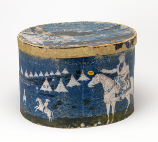 Bandbox And Lid, Old Rough and Ready