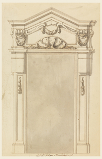 Drawing, Design for a door case