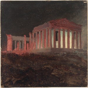 Drawing, Parthenon at Night, Athens
