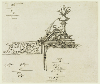 Drawing, Monument to Franz I, Empe, 1846