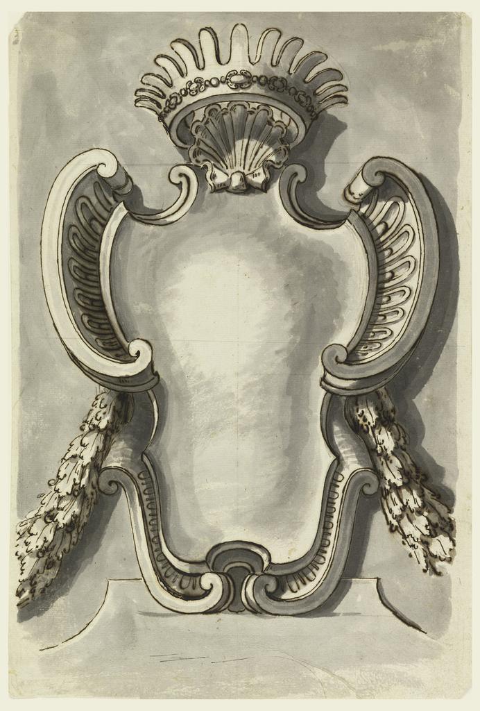 Drawing, Design for an escutcheon