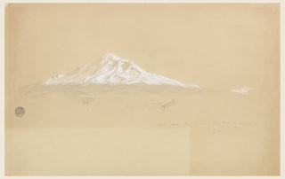 Drawing, Mount Chimborazo from the House of Senior Pablo Bustamante, Riobamba, Ecuador