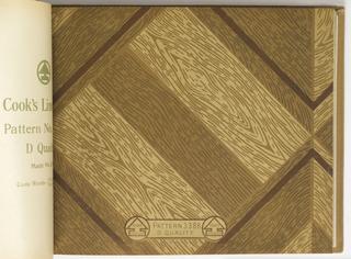 Book Illustration, Cook's Linoleum, Pattern 3388