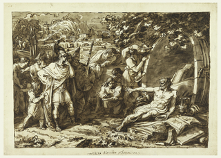Drawing, Alexander the Great and Diogenes