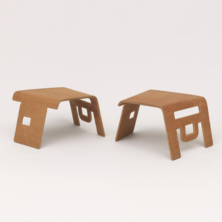 Prototype of linking child's stool.