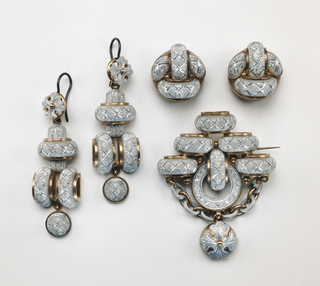 Brooch And Pair Of Earrings (probably France)