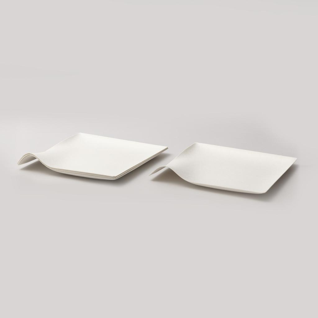 Kaku square plate, large Plate, 2008