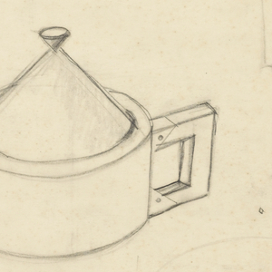 Various designs for tea or coffee pots, candlestick, salt and pepper shakers, serving plates, casserole dish.