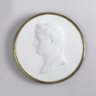 Head of Napoleon I in Wedgwood (white)