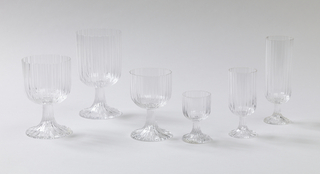 Sherry glass;Ribbed surface