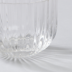 Cocktail glass;Ribbed surface; Stemless
