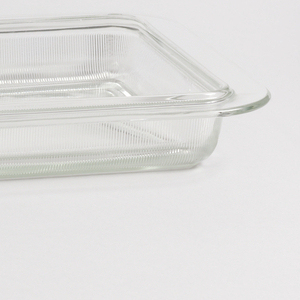 Squared glass baking dish