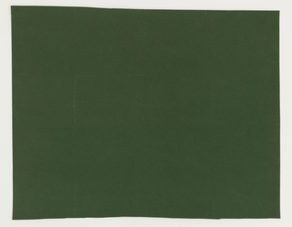 """Solid flocked wallpapers: """"a"""" is solid red, while """"b"""" is solid green. Each is printed on ingrain paper."""
