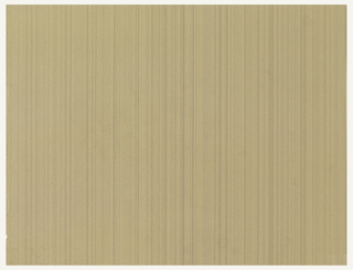 Stripes printed in various earthtones running vertically on tan ground.