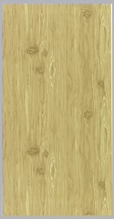 Simulated wood grain pattern. Printed in 3 shades of tan and light yellow.