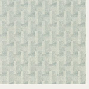 Trellis pattern created with repeating rectangles. Printed in shades of gray and green.