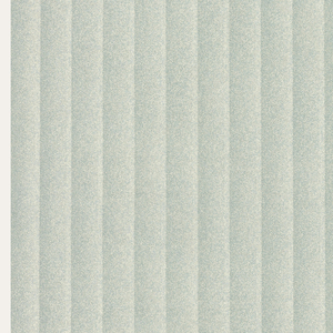 Vertical stripe design with fluted effect. Printed in shades of green and gray.