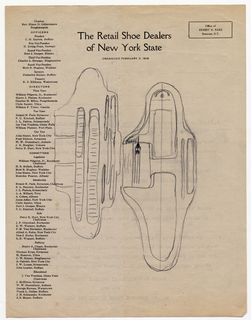 Sketch For Brannock Device (USA), ca. 1920s