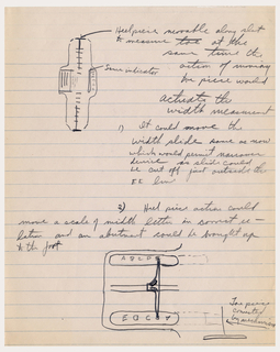 Sketch For Mechanism For Measuring Width Of Foot (USA), 1940s