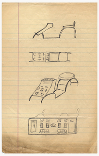 Sketch For Stool For Use With Brannock Device (USA), ca. 1947