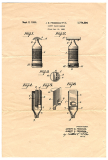 Copy Of Patent For Safety Razor Handle (USA)