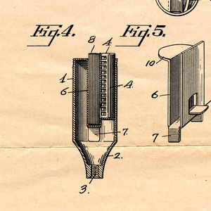 Copy Of Patent For Safety Razor Handle (USA), September 2, 1930