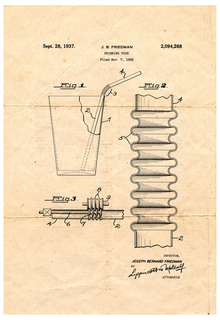 Copy Of Patent For Drinking Tube (USA), September 28, 1937
