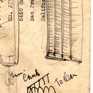 Sketch On Envelope For Pocket Brush (USA), ca. 1935