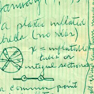 Sketch For Inflatable Umbrella (USA), January 19, 1954