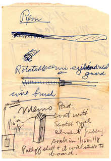 Sketch For Memo Pad With Adhesive Strip (USA), March 18, 1954