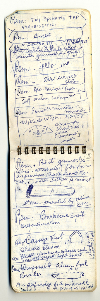 Pocket Notebook Of Inventions (USA), 1958