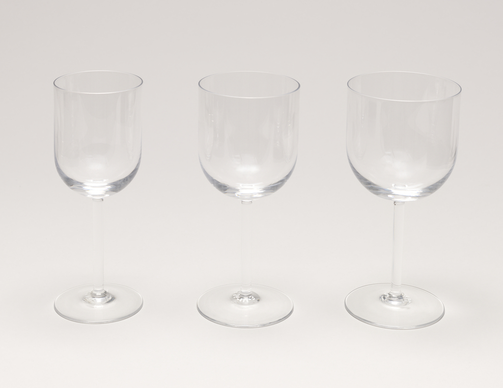Red Wine glass; Manufacturer sticker on glass