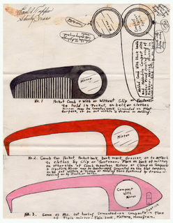 Sketches For Comb Designs (USA), March 1937