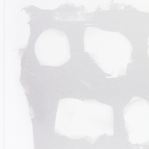 Photographically captured panel of drywall, marked with graphite and prepped with joint compound. This is one panel from a series of ten, each slightly different.
