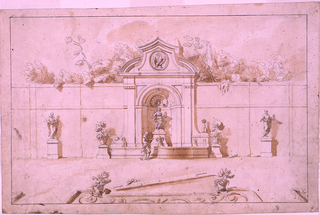 Scale: in pen and brown ink, on garden path: scala di pal.